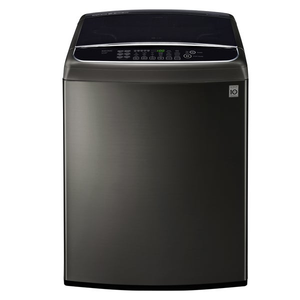 LG WT1901CK 5.0 cu. ft. Ultra Large Capacity Front Control Top Load Washer with TurboWash in Black Stainless Steel 27752492