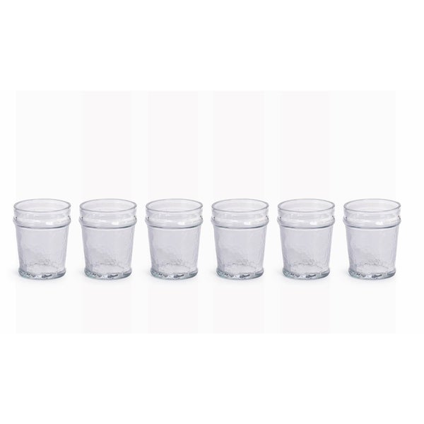"""Garan"" Hammered Glass Old Fashioned Glass (Set of 6) 27752737"