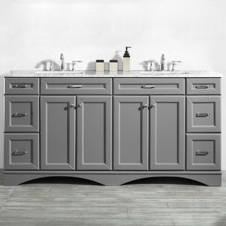 "Naples 72"" Double Vanity in Grey without Mirror"