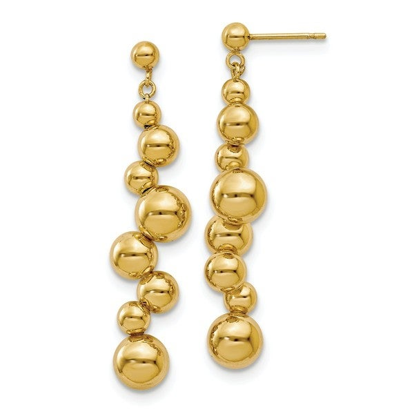 Sterling Silver Gold-plated Beaded Post Dangle Earrings, By Versil 27760960