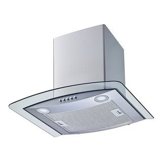 """Winflo O-W102C30 30"""" Convertible Stainless Steel/Tempered Glass Wall Mount Range Hood"""