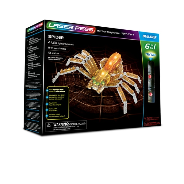 Laser Pegs Spider 6-in-1 Building Set 27788667