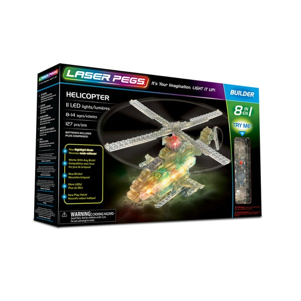Laser Pegs Helicopter 8-in-1 Building Set 27788718