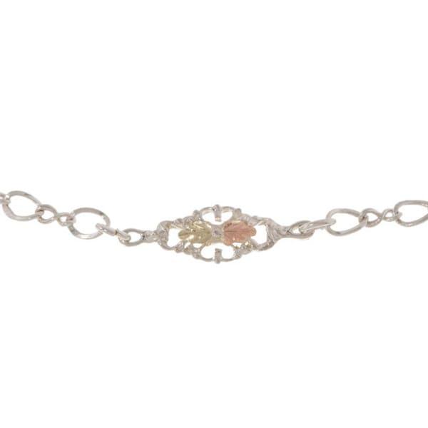 Black Hills Gold and Sterling Silver Ankle Bracelet