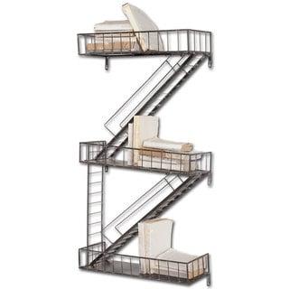 """Mercana Gastown 42""""H Wall-Mounted Fire Escape Shelf"""