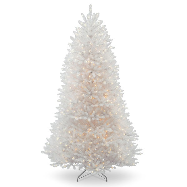 7 ft. Dunhill White Fir Tree with Clear Lights 27821571
