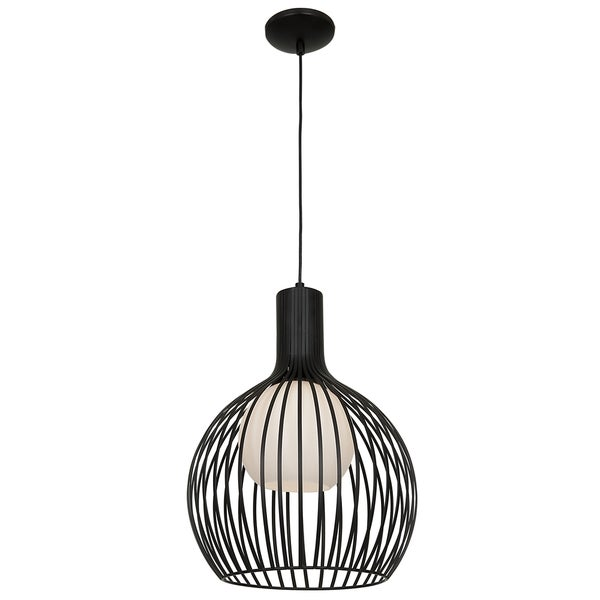 Access Lighting Chuki 1-light Black Pendant with Opal Glass 27824307