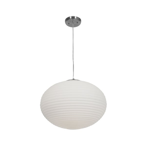 Access Lighting Callisto 3-light Fluorescent Brushed Steel Pendant with Opal Glass 27824320