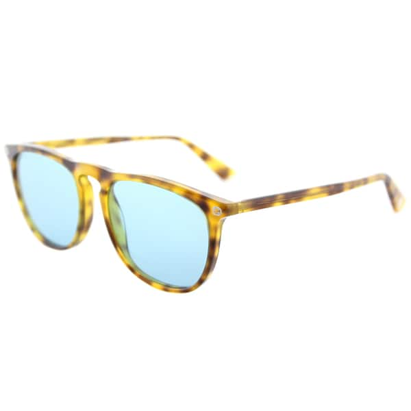Gucci Square GG 0120S 003 Unisex Shiny Dark Havana Frame Green Lens Sunglasses -  GG_0120S_003