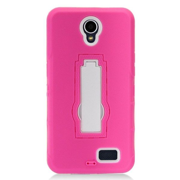 Insten Teal/Hot Pink Tuff Hard Snap-on Dual Layer Hybrid Case Cover For ZTE Prestige 2 N9136 27881361