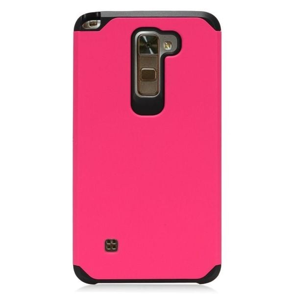 Insten Hot Pink/Black Hard Snap-on Dual Layer Hybrid Case Cover For LG Stylo 2/Stylus 2 27859535