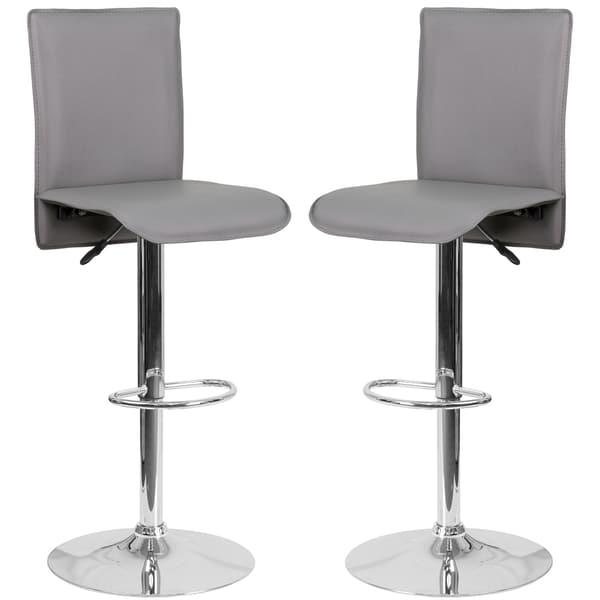 Portugal Grey Adjustable Swivel Barstools