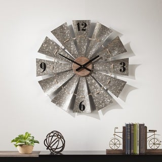 The Gray Barn Jartop Oversized Decorative Windmill Clock