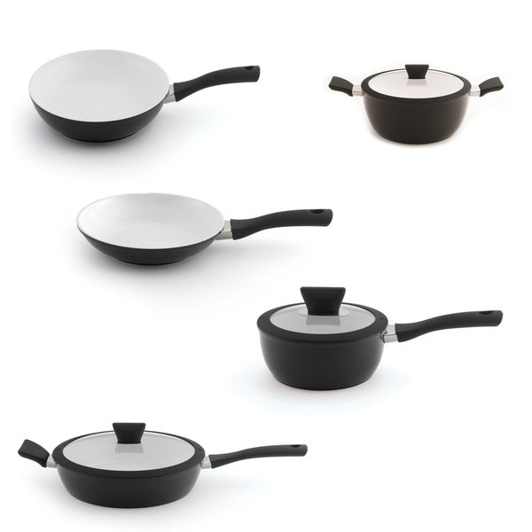 Eclipse Alum NS Cookware 8pc Set, Black & White 27874188