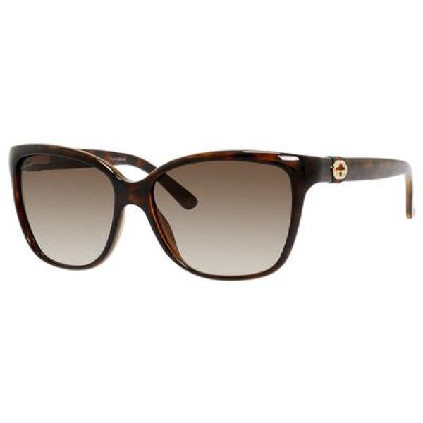 Gucci GG3645/S Women's Havana Frame Brown Lens Sunglasses -  GG3645S