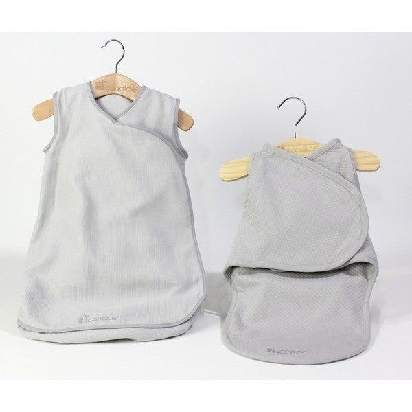 Candide Grey Baby Luxury Swaddling Blanket and Infant Sleeper Bag Bundle 27875920