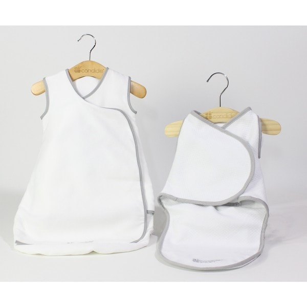 Candide Baby Luxury White Swaddling Blanket and Infant Sleeper Bag Bundle 27875921