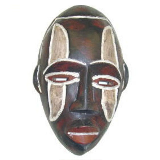 Frafra Hand-crafted Traditional Sesse-wood Tribal Mask, Handmade in , Handmade in Ghana