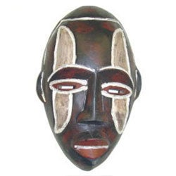 Frafra Hand-crafted Traditional Sesse-wood Tribal Mask (Ghana)
