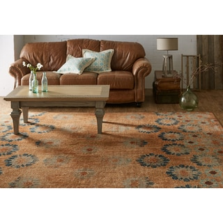 Patina Vie Mohawk Home Studio in Bloom Taupe/Rust Area Rug (8' x 10')