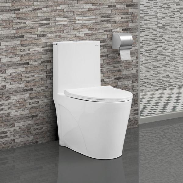 Swiss Madison St. Tropez One Piece Elongated Toilet Dual Tornado Flush 0.8/1.28 gpf 27892147