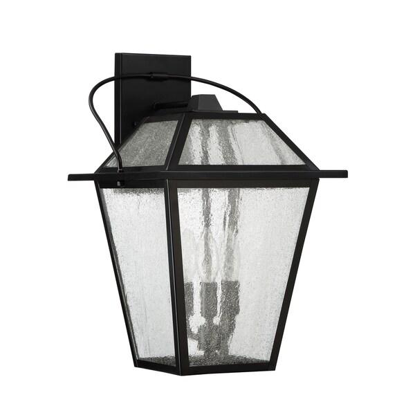 Quoizel Black Ridge 3-light Mystic Black Outdoor Wall Light 27893234