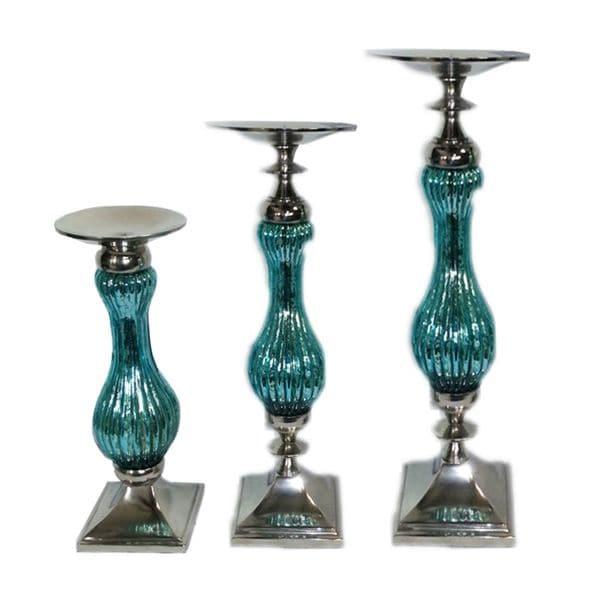 Benzara Elegant 3-piece Pillar Candle Holder 27893812