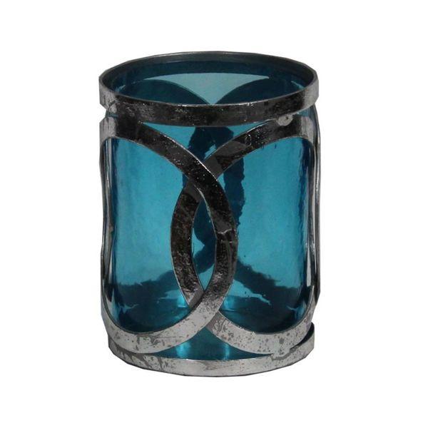 Attractive Glass Pillar Candle Holder- Benzara 27893865