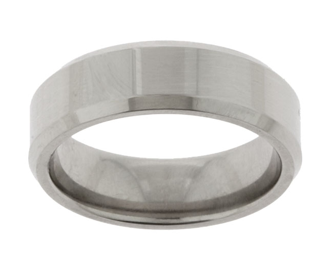 Men's Titanium Polished Band (7 mm)