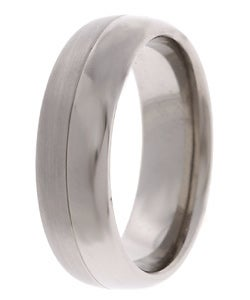 Men's Titanium 7mm Satin and Polish Band (7 mm)