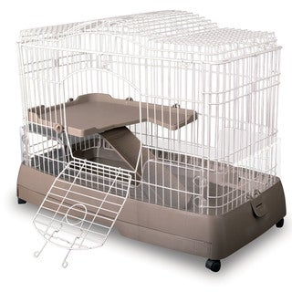 Clean Living 2.0 Chinchila & Ferret Cage - Brown/Off-White