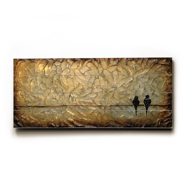 Rustic Love Birds - Wood Wall Decor by Danlye Jones - Planked Wood Wall Decor 27903656