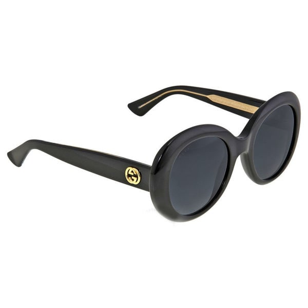 GUCCI GG3815 Women's Black and Gold Frame Grey Lens Sunglasses 27933463