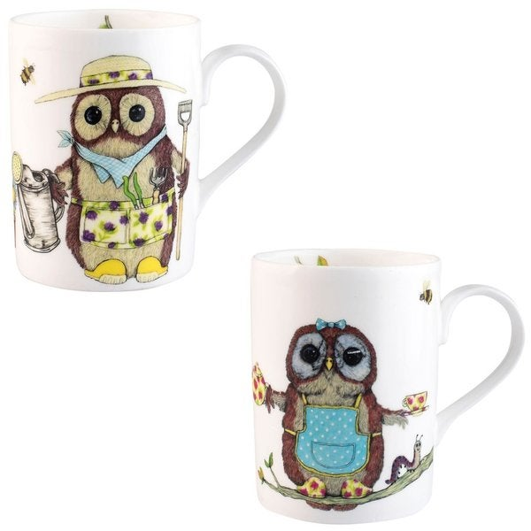 Roy Kirkham Lucy Life's A Hoot Mugs - Set of 6 27934104
