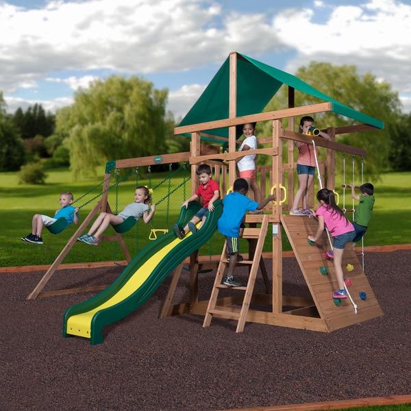 Backyard Discovery Mount McKinley All Cedar Wood Swing Set 27934344