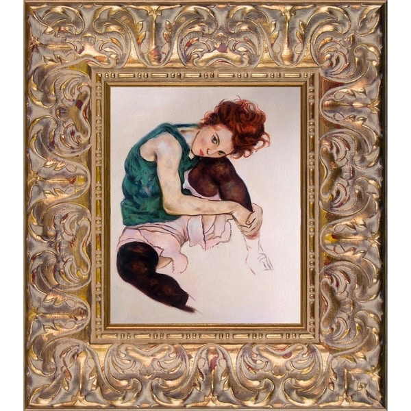 Egon Schiele The Artist's Wife Hand Painted Oil Reproduction 27934355