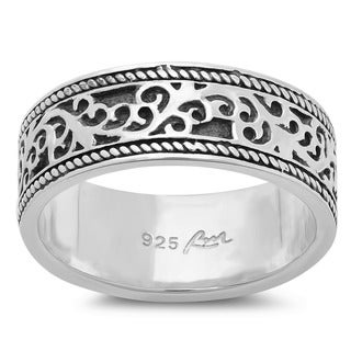 Sterling Essentials Sterling Silver Vine Antique-style Ring