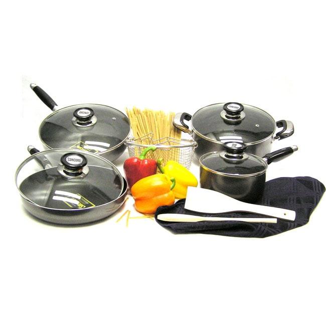 Heavy Gauge Aluminum Non-stick Cookware Set (11-piece)