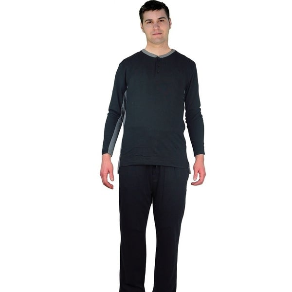 SuperComfortable & Great Fit Jersey Cotton Knit Crewneck Men's Pajamas. 27970890