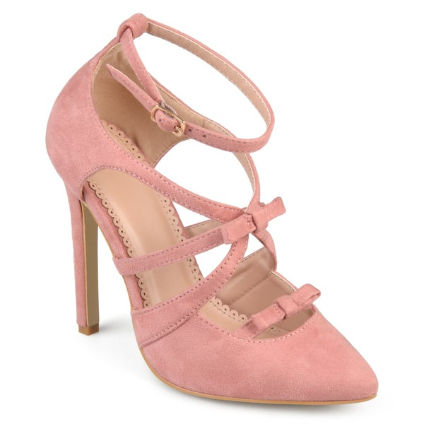 Journee Collection Women's 'Darion' Multi-strap Pointed Toe Bow Heels 27971787