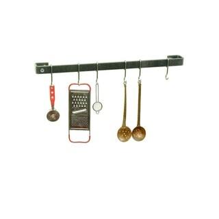 "Enclume Handcrafted 24"" Wall Rack Utensil Bar w/ 6 Hooks"