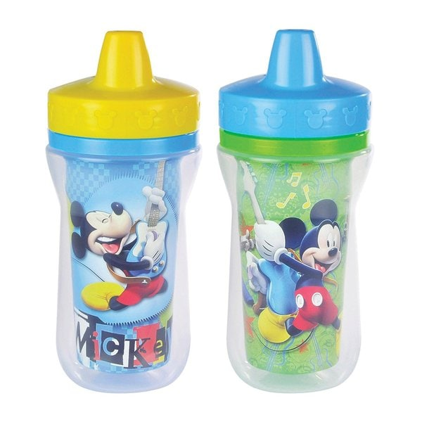 The First Years Mickey Mouse Clubhouse 9-ounce Insulated 9-ounce Sippy Cups (Pack of 2) 27990418