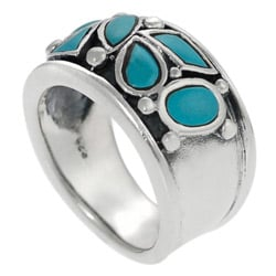 Tressa Sterling Silver Turquoise Ring