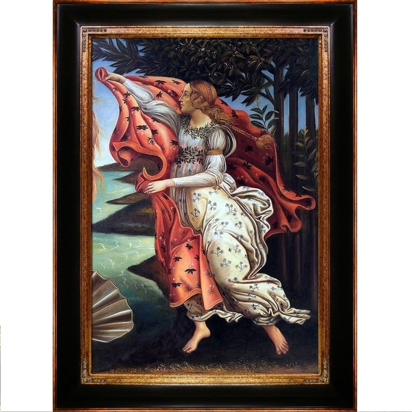 Botticelli Birth of Venus (right panel) Hand Painted Oil Reproduction 28011641