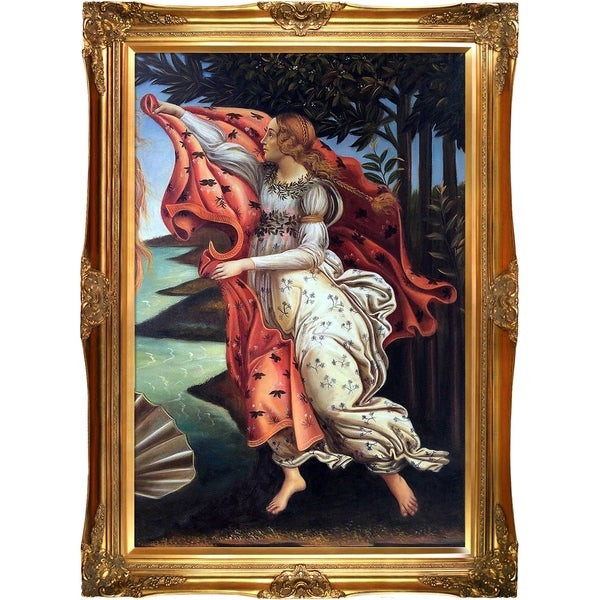 Botticelli Birth of Venus (right panel) Hand Painted Oil Reproduction 28011648
