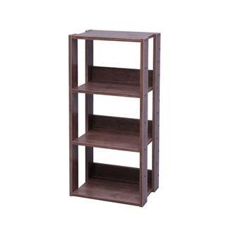 IRIS Mado 3-shelf Brown Wood Storage Shelving Unit
