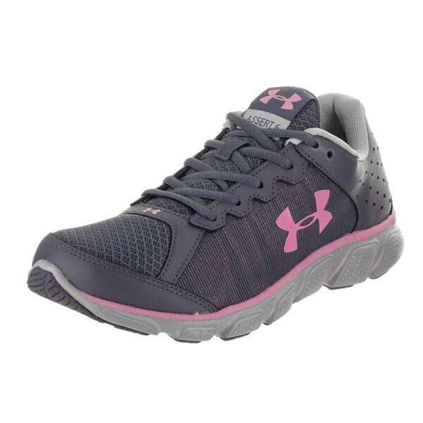 Under Armour Women's Micro G Assert 6 Grey Textile Size-10 Running Shoe 28019758