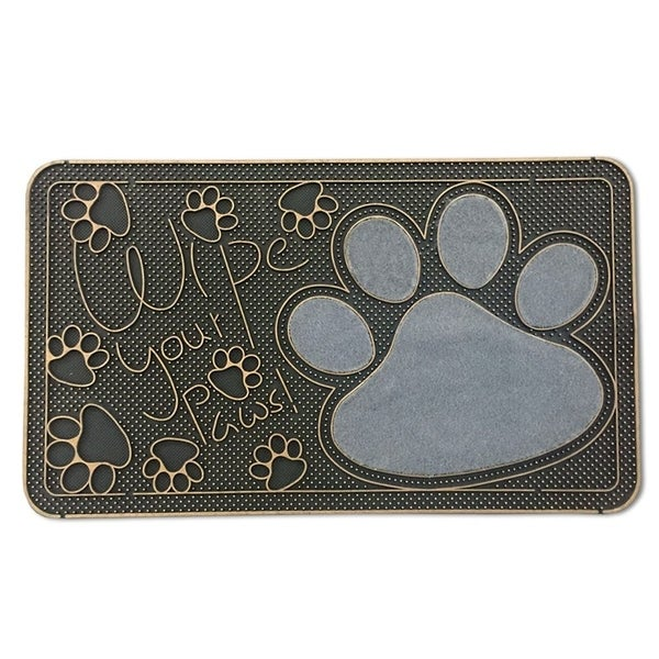 """FH Group Indoor Outdoor Mats Rugs Doormat 16"""" x 28"""" - Rubber utility mat for pets dogs muds shoes or home 28037839"""
