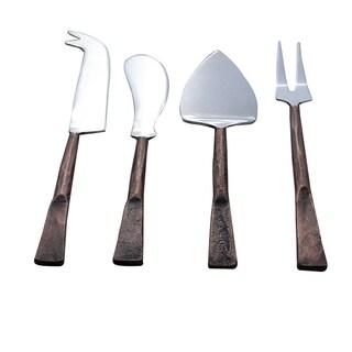 Inox Celia Design 4-piece Copper Antique Cheese Accessories Set