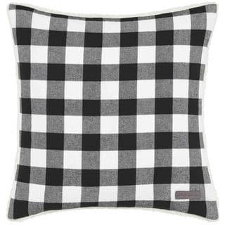Eddie Bauer Cabin Plaid Black & White Throw Pillow
